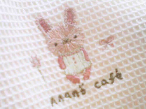 ウサギの刺繍